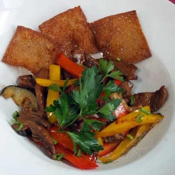 Салат «Телятина с овощами» 230 гр. Кафе-бар Черри Одинцово