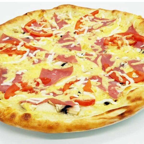 """Пицца """"Грибная с ветчиной"""" 500 гр. Кафе-бар Черри Одинцово"""