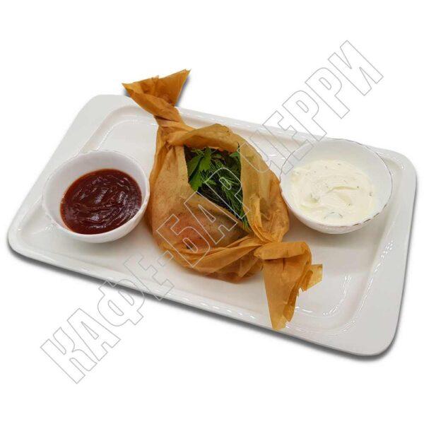 «Куриная грудка с овощами в пергаменте» 240/60 гр. Кафе-бар Черри Одинцово