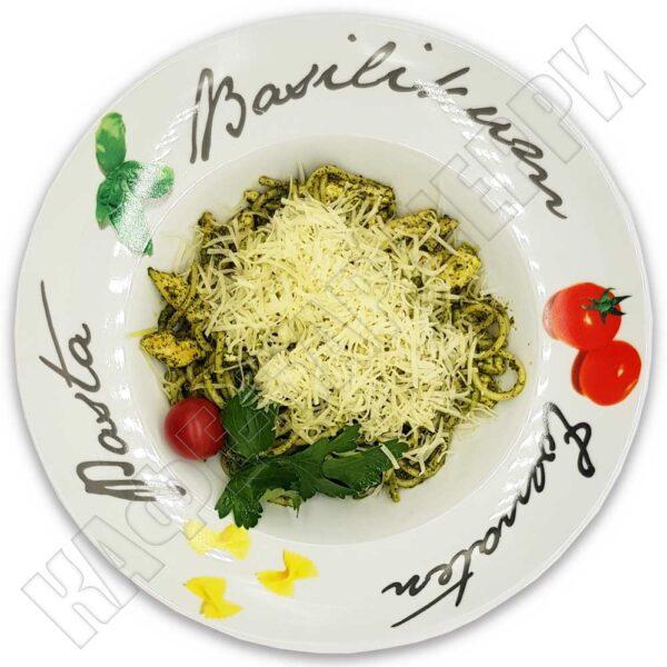 Спагетти с курицей и соусом Песто 280 гр. Кафе-бар Черри Одинцово
